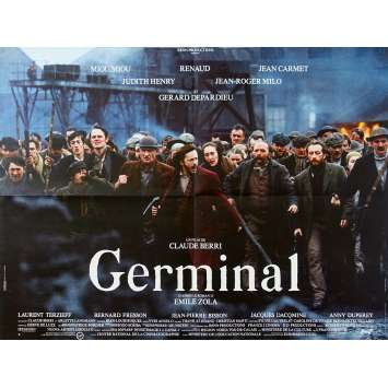 GERMINAL Affiche de film - 60x80 cm. - 1993 - Renaud Sechan, Claude Berri
