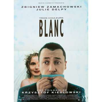 THREE COLORS : WHITE Original Movie Poster - 15x21 in. - 1994 - Krzysztof Kieslowski, Julie Delpy