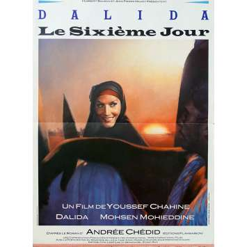 THE SIXTH DAY Original Movie Poster - 15x21 in. - 1986 - Youssef Chahine, Dalida