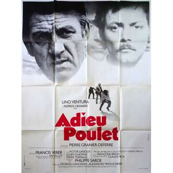 THE FRENCH DETECTIVE Original Movie Poster - 47x63 in. - 1975 - Pierre Granier-Deferre, Lino Ventura, Patrick Dewaere