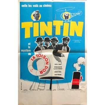 TINTIN ET LA TOISON D'OR Original Movie Poster - 15x21 in. - 1961 - Jean-Jacques Vierne, Georges Wilson,