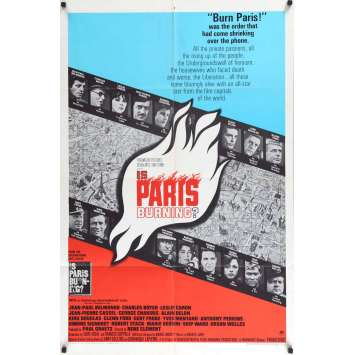 IS PARIS BURNING US Movie Poster 29x41 - 1966 - René Clément, Jean-Paul Belmondo