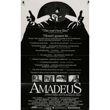 AMADEUS Original Movie Poster - 27x40 in. - 1984 - Milos Forman, F. Murrray Abraham