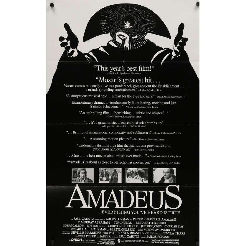 AMADEUS Affiche de film - 69x102 cm. - 1984 - F. Murrray Abraham, Milos Forman