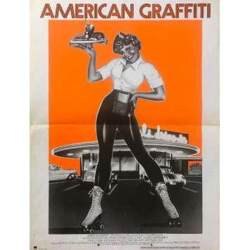 AMERICAN GRAFFITI Original Movie Poster - 15x21 in. - 1973 - George Lucas, Richard Dreyfuss