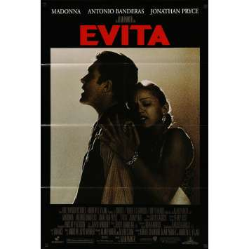 EVITA Original Movie Poster - 27x40 in. - 1996 - Alan Parker, Madonna, Jonathan Pryce
