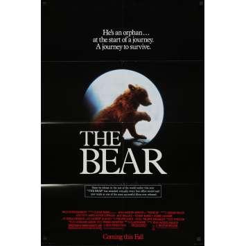 THE BEAR Original Movie Poster - 27x40 in. - 1988 - Jean-Jacques Annaud, Tchéky Karyo