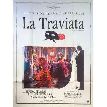 LA TRAVIATA Original Movie Poster - 47x63 in. - 1982 - Franco Zeffirelli, Teresa Stratas, Plácido Domingo