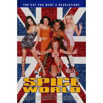 SPICE WORLD Original Movie Poster - 27x40 in. - 1997 - Bob Spiers, The Spice Girls