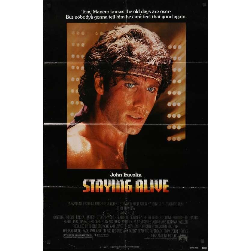 STAYING ALIVE Original Movie Poster - 27x40 in. - 1983 - Sylvester Stallone, John Travolta