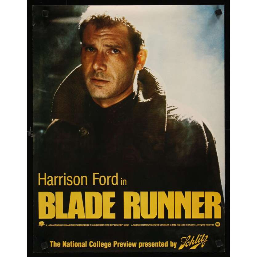 BLADE RUNNER Affiche Advance Super Rare USA '82 Version Schlitz