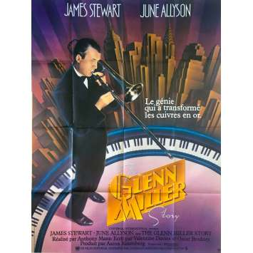 THE GLEN MILLER STORY Original Movie Poster - 47x63 in. - 1954 - Anthonny Mann, James Stewart