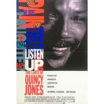 LISTEN UP: LE LIVES OF QUINCY JONES Original Movie Poster - 15x21 in. - 1990 - Ellen Weissbrod, Clarence Avant, George Benson