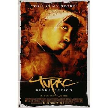 TUPAC RESURRECTION Original Movie Poster - 27x40 in. - 2003 - Lauren Lazin, Tupac Shakur