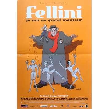 FELLINI JE SUIS UN GRAND MENTEUR Affiche de film - 40x60 cm. - 2002 - Roberto Benigni, Damian Pettigrew