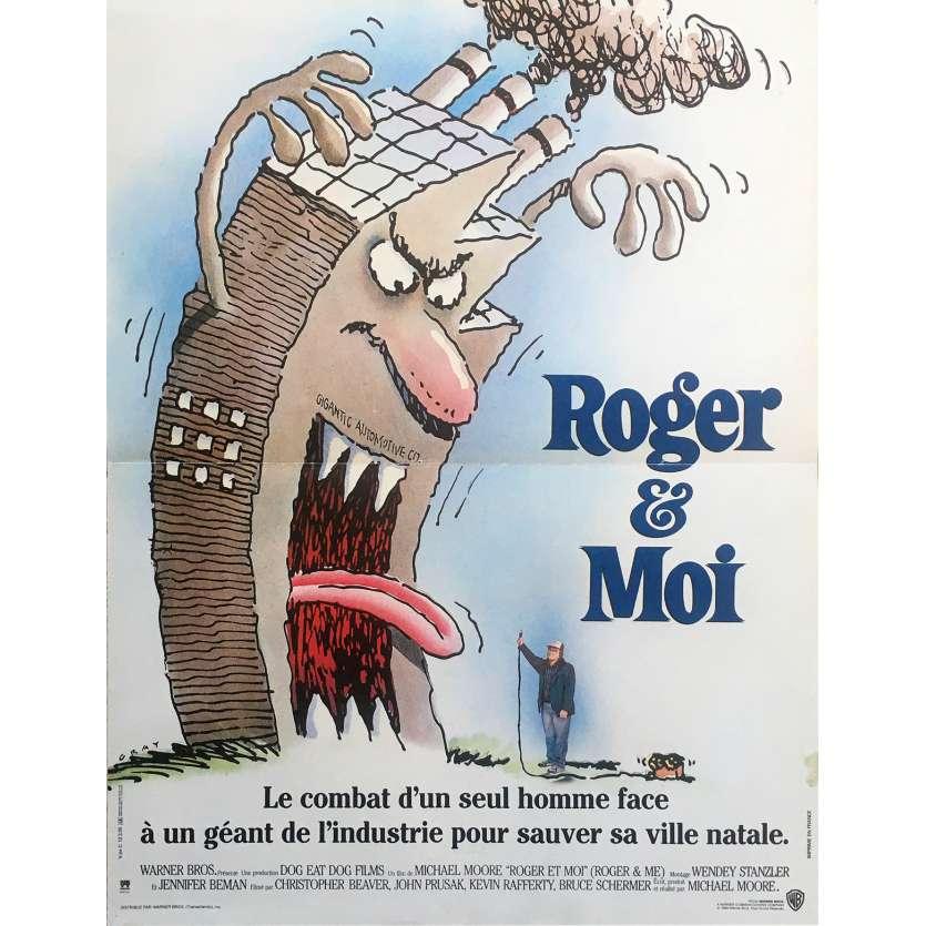 ROGER ET MOI Affiche de film - 40x60 cm. - 1989 - Michael Moore, Michael Moore