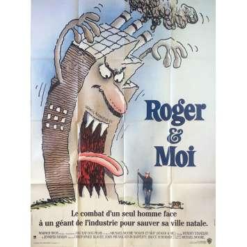 ROGER ET MOI Affiche de film - 120x160 cm. - 1989 - Michael Moore, Michael Moore