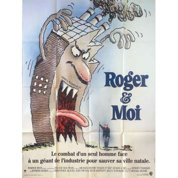 ROGER & ME Original Movie Poster - 47x63 in. - 1989 - Michael Moore, Michael Moore