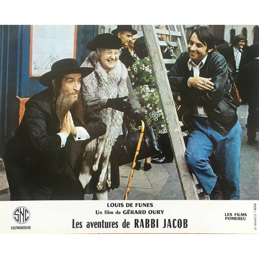 THE MAD ADVENTURES OF RABBI JACOB Original Lobby Card N15 - 10x12 in. - 1973 - Gérard Oury, Louis de Funès