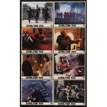 DEMOLITION MAN 8 8x10 mini LCs '93 Sylvester Stallone, Wesley Snipes, Sandra Bullock