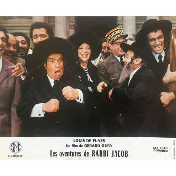 THE MAD ADVENTURES OF RABBI JACOB Original Lobby Card N13 - 10x12 in. - 1973 - Gérard Oury, Louis de Funès