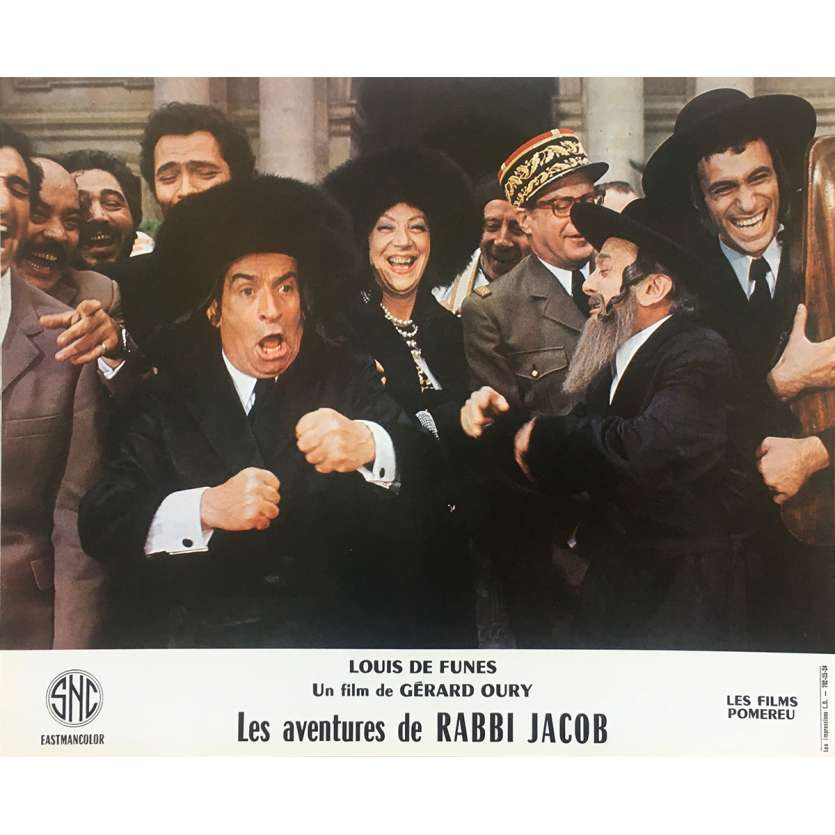 THE MAD ADVENTURES OF RABBI JACOB Original Lobby Card N13 - 10x12 in. - 1973 - Gérard Oury, Louis de Funès