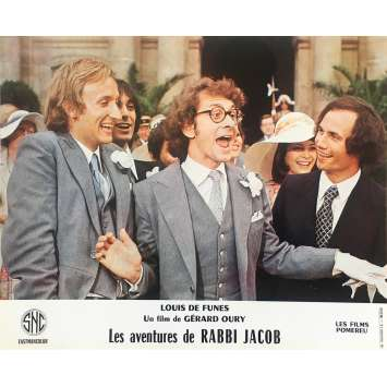 THE MAD ADVENTURES OF RABBI JACOB Original Lobby Card N12 - 10x12 in. - 1973 - Gérard Oury, Louis de Funès