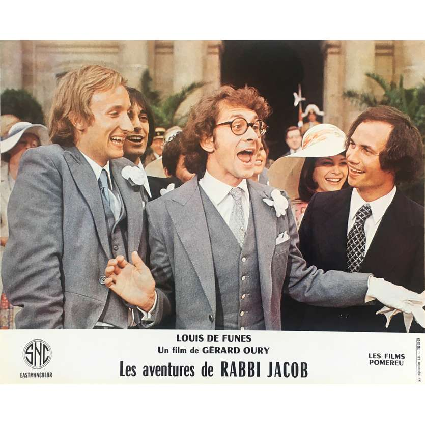 THE MAD ADVENTURES OF RABBI JACOB Original Lobby Card N12 - 10x12 in. - 1973 - Gérard Oury, Louis de Funès