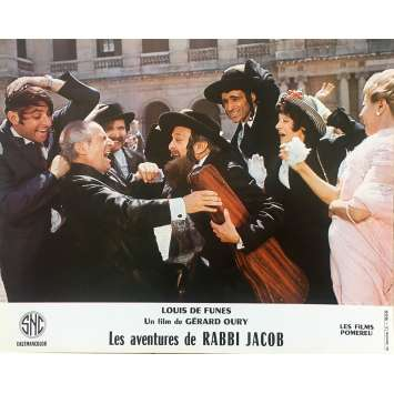 THE MAD ADVENTURES OF RABBI JACOB Original Lobby Card N09 - 10x12 in. - 1973 - Gérard Oury, Louis de Funès