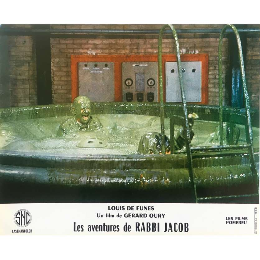 THE MAD ADVENTURES OF RABBI JACOB Original Lobby Card N07 - 10x12 in. - 1973 - Gérard Oury, Louis de Funès