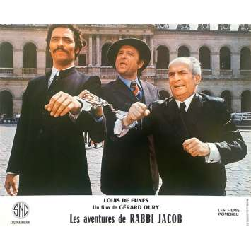 THE MAD ADVENTURES OF RABBI JACOB Original Lobby Card N06 - 10x12 in. - 1973 - Gérard Oury, Louis de Funès