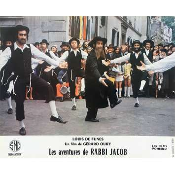 THE MAD ADVENTURES OF RABBI JACOB Original Lobby Card N03 - 10x12 in. - 1973 - Gérard Oury, Louis de Funès