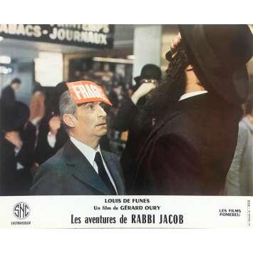 THE MAD ADVENTURES OF RABBI JACOB Original Lobby Card N02 - 10x12 in. - 1973 - Gérard Oury, Louis de Funès