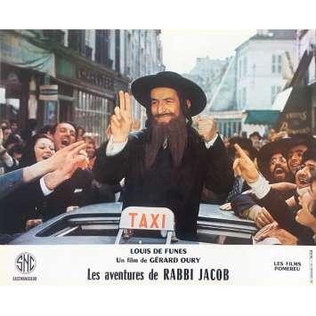 THE MAD ADVENTURES OF RABBI JACOB Original Lobby Card N01 - 10x12 in. - 1973 - Gérard Oury, Louis de Funès