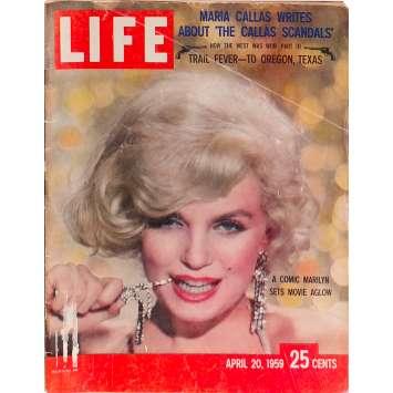 LIFE - APRIL 20 Original Magazine - 11x14 in. - 1959 - 0, Marilyn Monroe