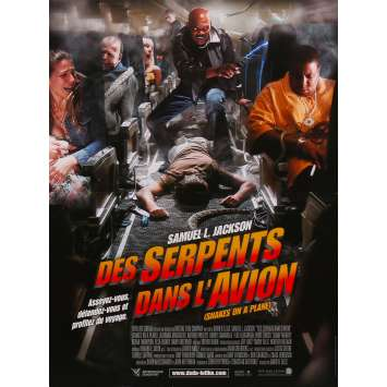 DES SERPENTS DANS L'AVION Affiche de film - 40x60 cm. - 2006 - Samuel L. Jackson, David R. Ellis