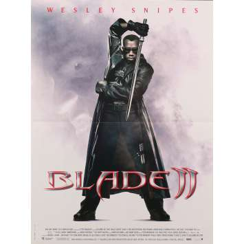BLADE II Original Movie Poster - 15x21 in. - 2002 - Guillermo del Toro, Wesley Snipes