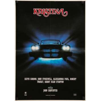 CHRISTINE Original Movie Poster - 20x27 in. - 1983 - John Carpenter, Keith Gordon