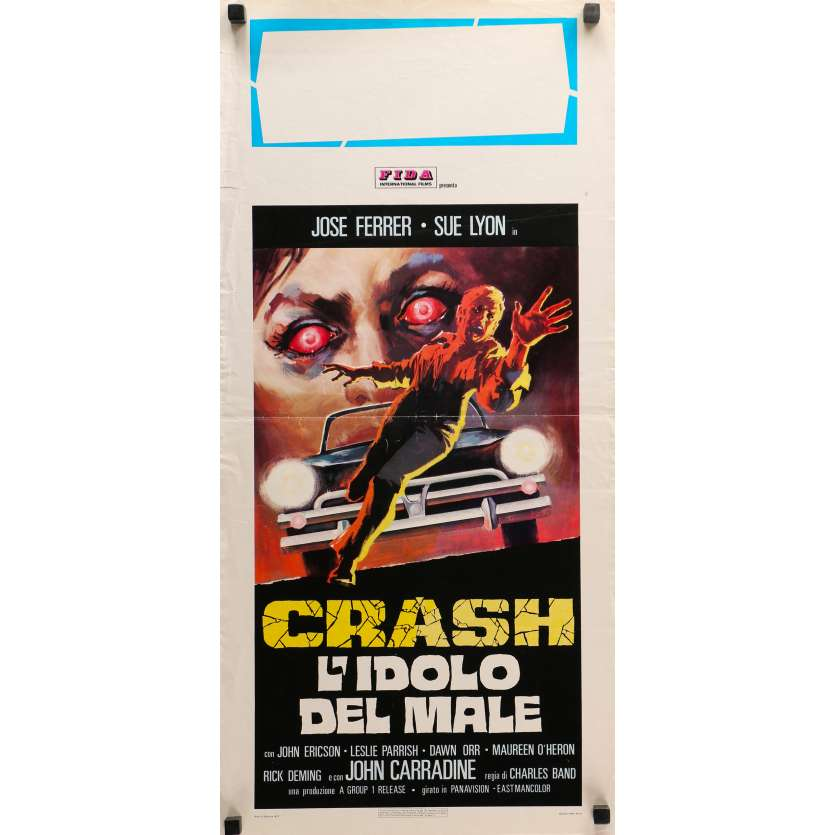 CRASH! Original Movie Poster - 13x28 in. - 1976 - Charles Band, José ferrer