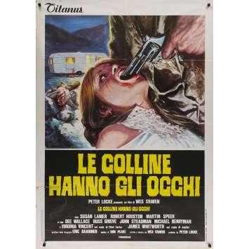 LA COLLINE A DES YEUX Affiche de film - 100x140 cm. - 1977 - Michael Berryman, Wes Craven