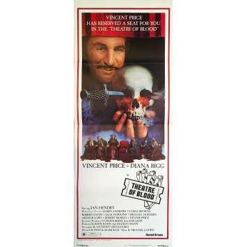 THEATRE DE SANG Affiche de film - 35x91 cm. - 1973 - Vincent Price, Douglas Hickox