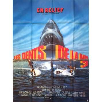 LES DENTS DE LA MER 3D Affiche de film - 120x160 cm. - 1987 - Lance Guest, Joseph Sargent