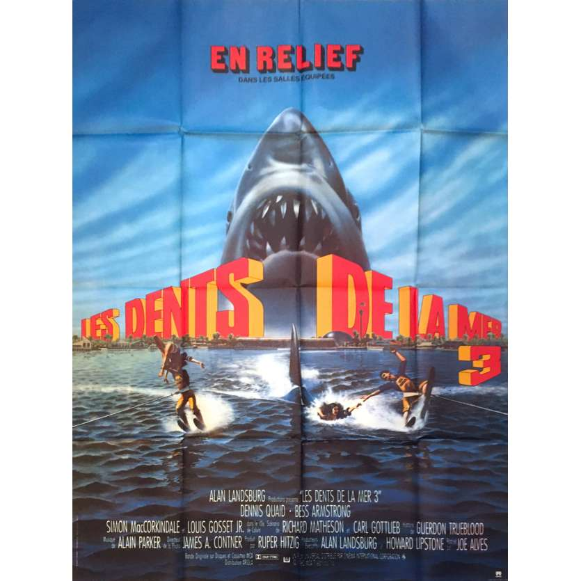 JAWS: THE REVENGE Original Movie Poster - 47x63 in. - 1987 - Joseph Sargent, Lance Guest