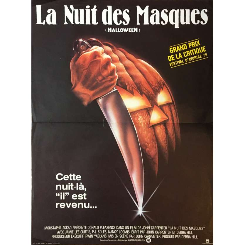 HALLOWEEN LA NUIT DES MASQUES Affiche de film - 40x60 cm. - 1978 - Jamie Lee Curtis, John Carpenter