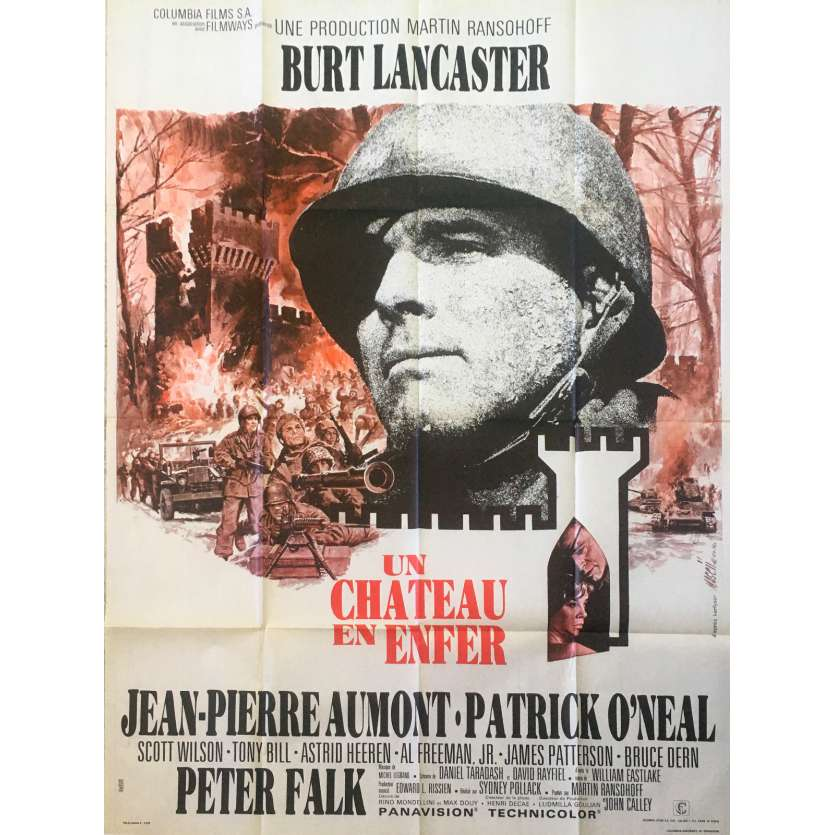 CASTLE KEEP French Movie Poster 47x63 '69 Burt Lancaster