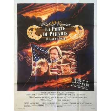 LA PORTE DU PARADIS Affiche de film 120x160 - 1981 - Isabelle Huppert, Michael Cimino