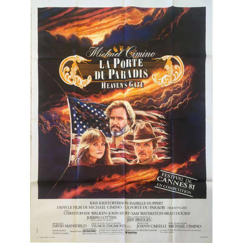 HEAVEN'S GATE French Movie Poster 47x63 - 1981 - Michael Cimino, Isabelle Huppert