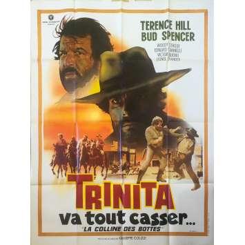 TRINITA VA TOUT CASSER Affiche de film 120x160 cm - 1969 - Bud Spencer, Terence Hill, Giuseppe Colizzi