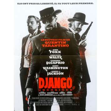 DJANGO UNCHAINED French Movie Poster 13x21 '12 Quentin Tarantino