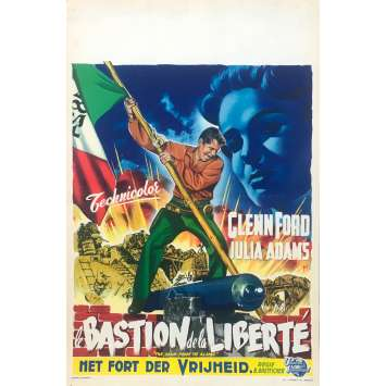 LE DESERTEUR DE FORT ALAMO / LE BASTION DE LA LIBERTE Affiche de film 35x55 - 1953 - Glenn Ford, B. Boetticher